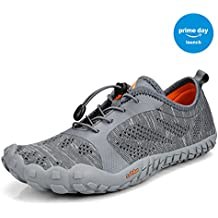 Troadlop Mens Quick Drying Outdoor Lightweight Breathable Non-Slip Mesh Hiking Trail Running Shoes(Size 6.5-12 US)