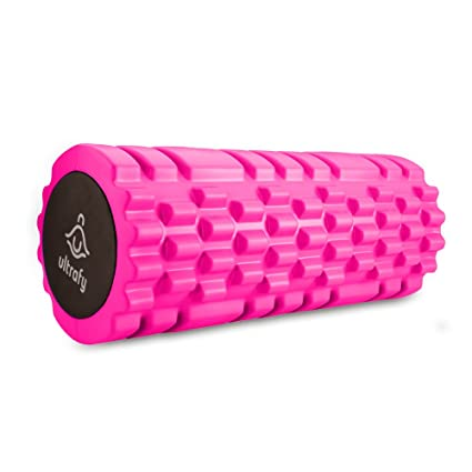 Ultrafy Foam Roller 2-in-1 High-Density Back Leg Exercise ...