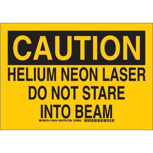(Brady 129163 Radiation and Laser Sign, Legend