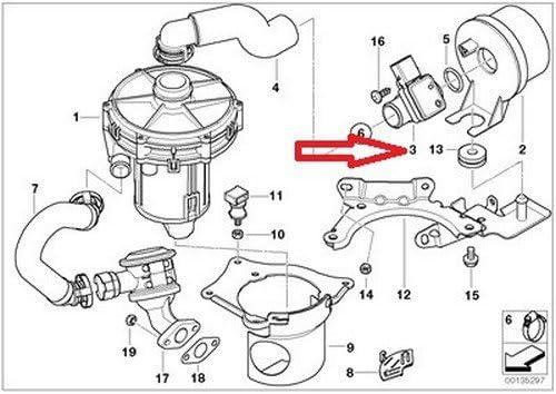 Air Mass Sensor Secondary for Emission Control Air Pump For BMW E46 E53 330Ci