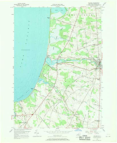 YellowMaps Pulaski NY topo map, 1:24000 Scale, 7.5 X 7.5 Minute, Historical, 1956, Updated 1970, 27 x 22.1 in - Paper
