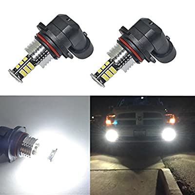 Alla Lighting Super Bright 9006 LED Fog Lights Bulbs 2000 Lumens 3020 30-SMD HB4 Replacement for Cars,Trucks, 6000K Xenon White: Automotive