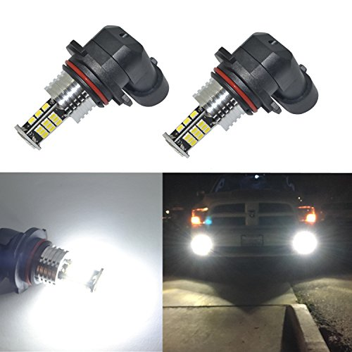 Mustang Bulbs Fog - Alla Lighting Super Bright H10 9145 LED Fog Lights Bulbs 9145 LED Light Bulb 2000 Lumens LED 9145 Bulb 3020 30-SMD LED 9140 9145 H10 Fog Light Bulbs Replacement for Cars,Trucks, 6000K Xenon White