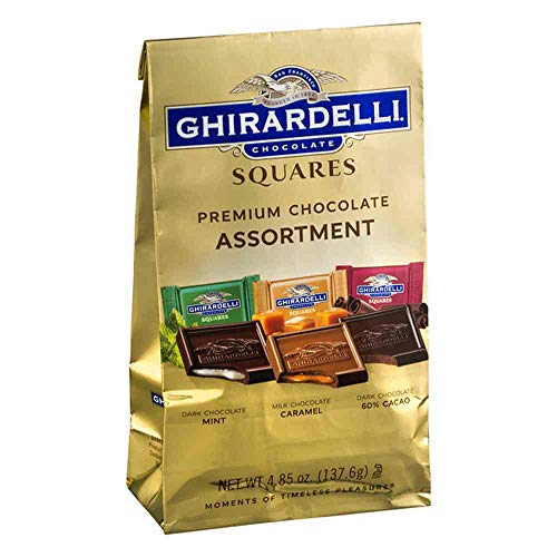 (Ghirardelli Assorted Premium Chocolate Squares, 4.85 Ounce Bag -- 6 per case.)