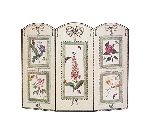 Stupell Industries 3 Panel Decorative Fireplace Screen, 5 Prints and Botanical Design, 27'' x 35'' by .375 Inches (Print Screen Design)