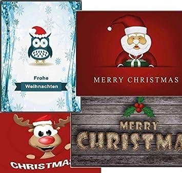 Bilder Weihnachten Lustig.Weihnachtspostkarten Set Weihnachtskarten Karten Weihnachten Lustig
