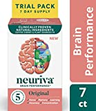Brain Support Supplement - Neuriva Original (7 Count in a Bottle), Helps Support 5 Indicators of Brain Performance: Focus, Memory, Learning, Accuracy & Concentration, with Neurofactor and PS