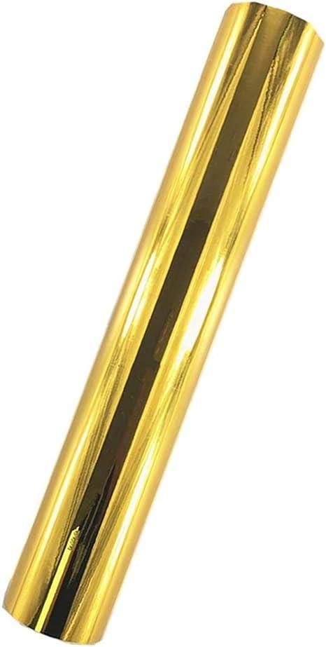 Redodeco Glänzende Holografische Opal Vinyl Chrom Klebefolie Permanente Vinylfolie Rolle 30 X 152 Cm Gold