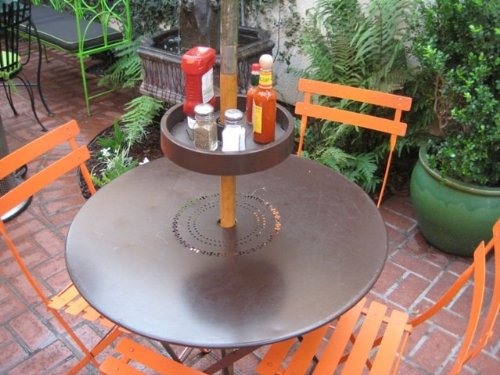 UPSHELF Detachable Umbrella Pole Shelf, Brown (Umbrella Accessories)