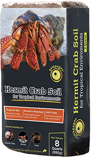 Galapagos (05000) Hermit Crab Tropicoco Soil, Natural, 8qt Compressed Brick by Galapagos