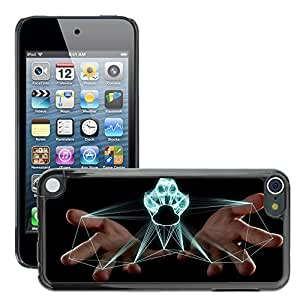 Super Stellar Slim PC Hard Case Cover Skin Armor Shell Protection // M00047885 projection feline aero paw black // Apple iPod Touch 5 5G 5th