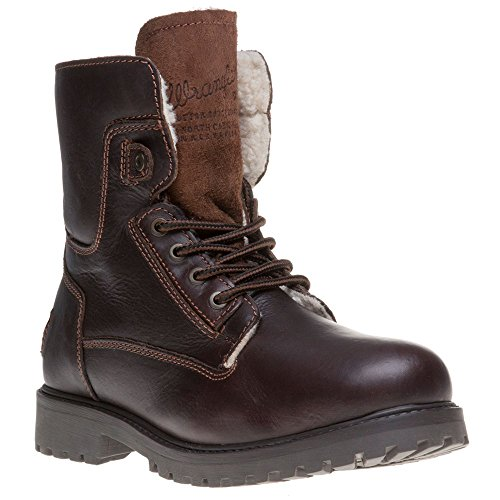 Wrangler - Botas de cuero para hombre marrón marrón