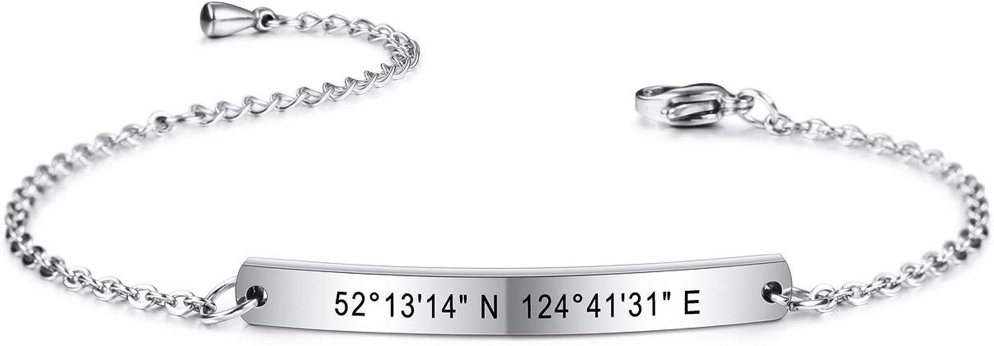 Dainty Personalized Bracelet Name Bracelet Custom Engraved Any Name or Text