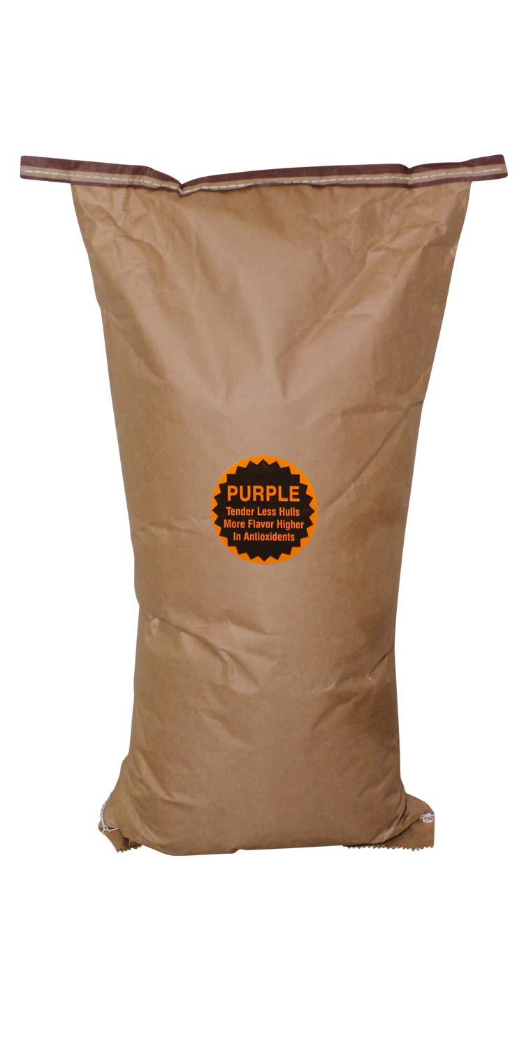 Amish Country Popcorn - 50 Pound Bag of Purple Kernels - Perfect for Fundraisers - Old Fashioned Non GMO, Gluten Free, Microwaveable, Stovetop and Air Popper Friendly with Recipe Guide by Amish Country Popcorn