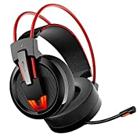 GranVela V9 Hi Definition PC Gaming Headphones,7.1 Surround Sound Stereo Over-Ear Noise Isolating USB Gaming Headset with Mic