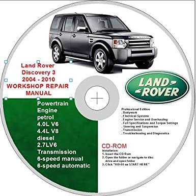 land rover discovery 3 2004 2010 workshop repair manual amazon co rh amazon co uk land rover discovery series 1 workshop manual free download land rover discovery 2 workshop manual pdf
