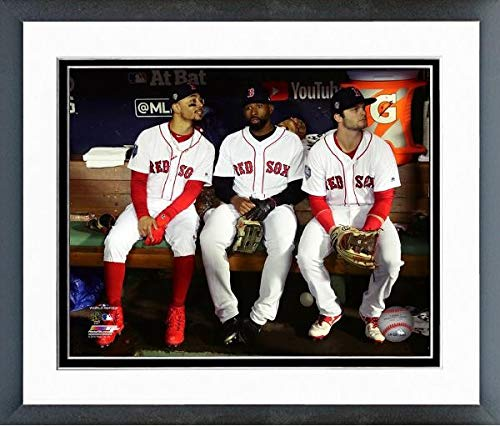 Andrew Benintendi Jackie Bradley Jr. Mookie Betts 2018 World Series Photo (Size: 12.5