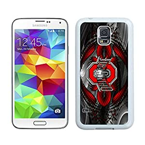 Unique S5 Case,Ohio State University(OSU) Buckeyes White Phone Case For Samsung Galaxy S5 Cover Case