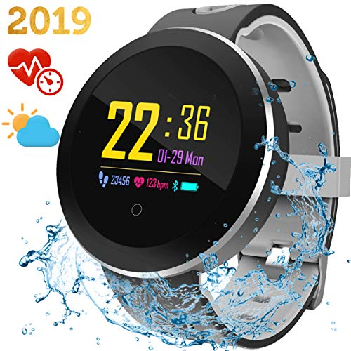 Smart Watch Fitness Activity Tracker - IP68 Waterproof Sports Fitness Watch with Blood Pressure Monitor Heart Rate Oxygen Sleep Monitor Calorie Pedometer Sport Bracelet for Women Men Birthday Gift