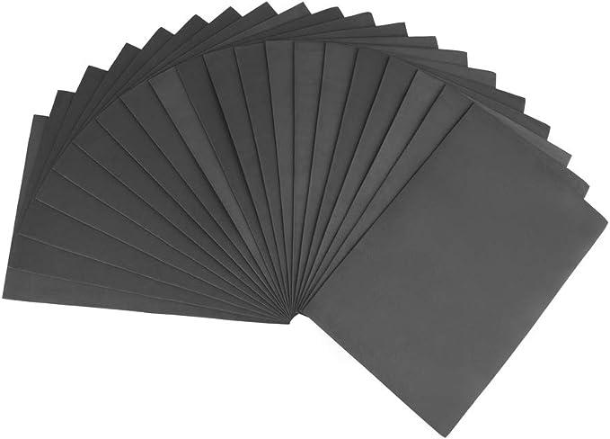 ewtshop® 20 Hojas de gomaespuma Negra para Manualidades, DIN A4: Amazon.es: Hogar