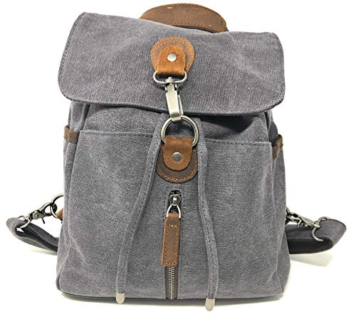 Conceal Carry Purse Backpack Sling -Water Repellent Crossbody (Grey)