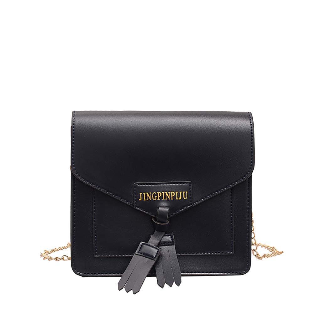 Makeupstory Crossbody Bag,Purses and Handbags Organizers,Women Joker Messenger Bag Shoulder Bag Fashion Small Square Bag Black