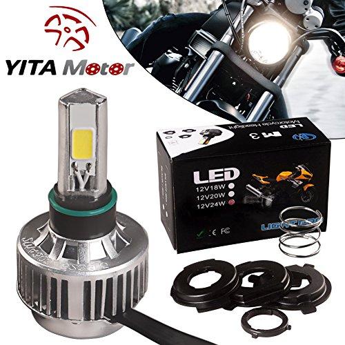 YITAMOTOR White Motorcycle Headlight 6500K