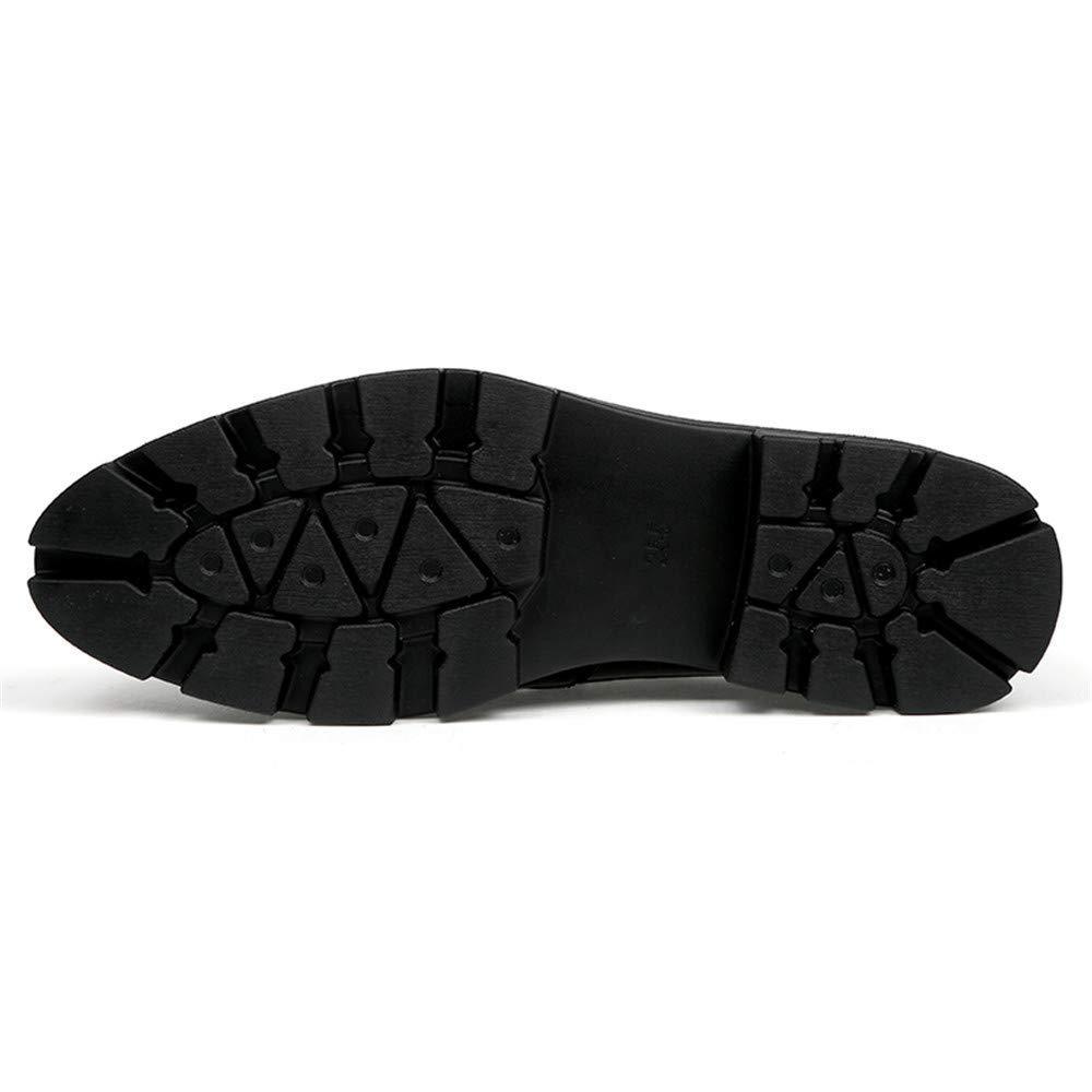 2018 Männer Business Oxford Casual Fashion Höhe Lackleder Zunehmende Einlegesohle Konventionelle und Lackleder Höhe Brogue Schuhe (Farbe   Gloss schwarz, Größe   43 EU) (Farbe   Schwarz, Größe   38 EU) 35599e
