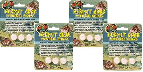 (4 Pack) Zoo Med Laboratories Zoo Hermit Crab Mineral Blocks ()