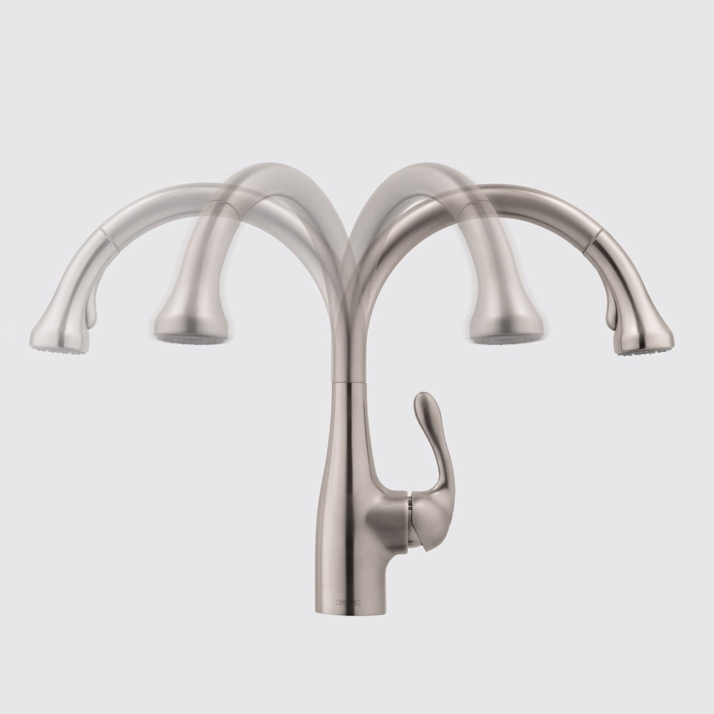 Hansgrohe 04066861 Allegro E Gourmet Kitchen Faucet Low Flow, Steel ...