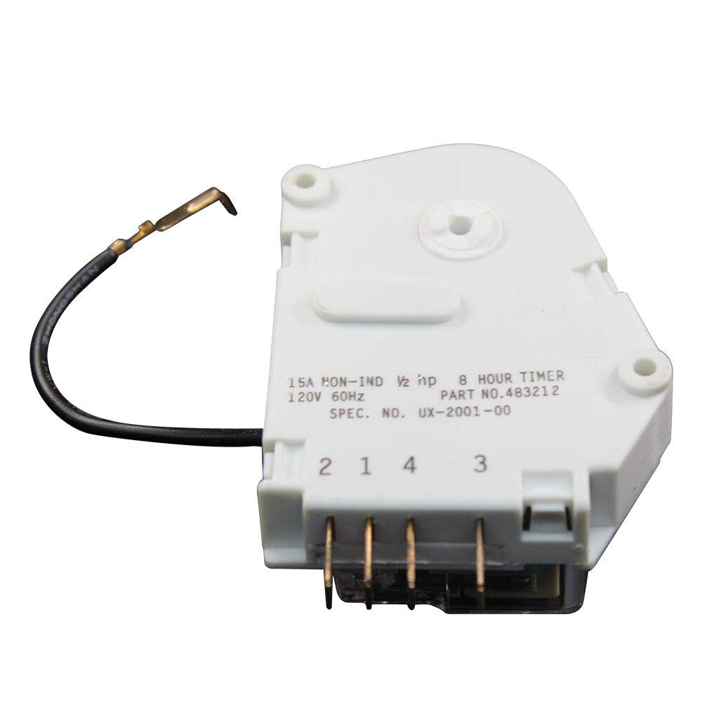MAYITOP W10822278 Refrigerator Defrost Timer for Whirlpool KitchenAid Kenmore PS11723171 945514 482493