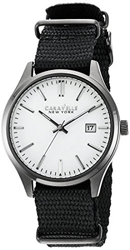 Caravelle New York Men's Quartz Stainless Steel Dress Watch (Model: 45B142)