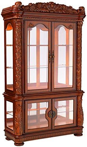 ACME Vendome Cherry Curio Cabinet