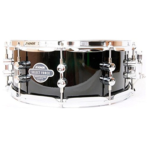 Sonor SEF-1455-SDW-C-PB Select Force 7 Layered Maple Snare Drum 14 x 5.5 (Black) Sonor Hardware