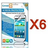zte reef phone accessories - CoverON 6 Pack Transparent LCD Clear Screen Protector Shield for ZTE Reef