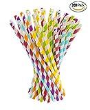 Lot de 200 Pailles en papier Biodégradable et Compostable