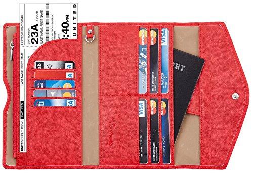 Travelambo Rfid Blocking Passport Holder Wallet & Travel Wallet Envelope Various - Clutch Wallet Compact