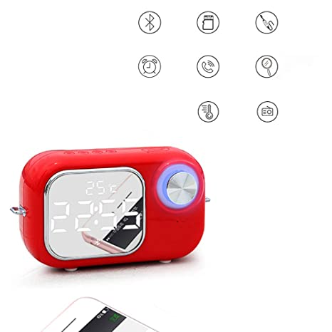 Pantalla de espejo LED Alarma doble Mini Reloj despertador ...
