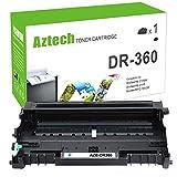 Aztech DR360 Drum DR-360 Drum Compatible Drum Unit Replacement for Brother DR360 Drum Unit DR-360 Brother DR 360 Drum (1 Pack - Black - Drum ONLY)