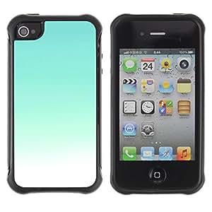 """Pulsar iFace Series Tpu silicona Carcasa Funda Case para Apple iPhone 4 / iPhone 4S , Cielo Brillante Teal blanco cielo soleado de verano"""""""