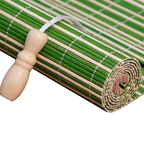 (JINLINE Rolling Shutter Bamboo Curtain Indoor and Outdoor Shade Wind and Rain Multi-Function Lifting Balcony Split Curtain Tea Room Decorations Bamboo Roller Blind (Color : B, Size : 60x150cm))