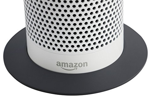 Soundbass - Premium Metal Amazon Echo Stand (Grey Base) | High-End Discreet Plinth Design | Exceptional Improvements In Stability | Color Matched Finish | Perfect Protection For Alexa