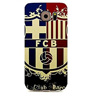 Barcelona FC Logo Gifts for Fans Customized Slim Durrable Plastic 3D Fantasy Case WRE525 for Samsung Galaxy S6 Edge