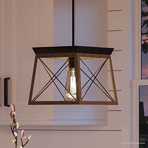 Luxury Industrial Chic Pendant Light, Small Size 9 H x 10 W, with Modern Farmhouse Style Elements, Olde Bronze Finish, UHP2124 from The Berkeley Collection by Urban Ambiance