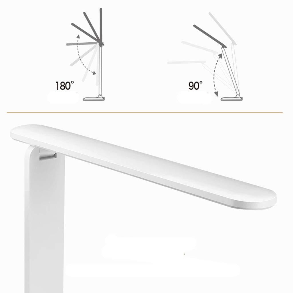 Lámpara de escritorio Tronics LED, lámparas de mesa que con cuidan el ojo, lámpara de oficina regulable con que puerto de carga USB, 3 modos de iluminación con niveles de brillo, control táctil, blanco, 10W f97a58