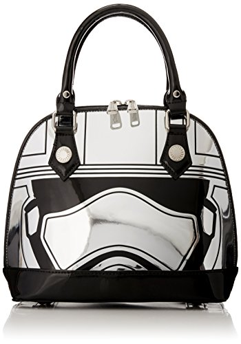 Loungefly Captain Phasma Silver Metallic Embossed Dome Top Handle Bag