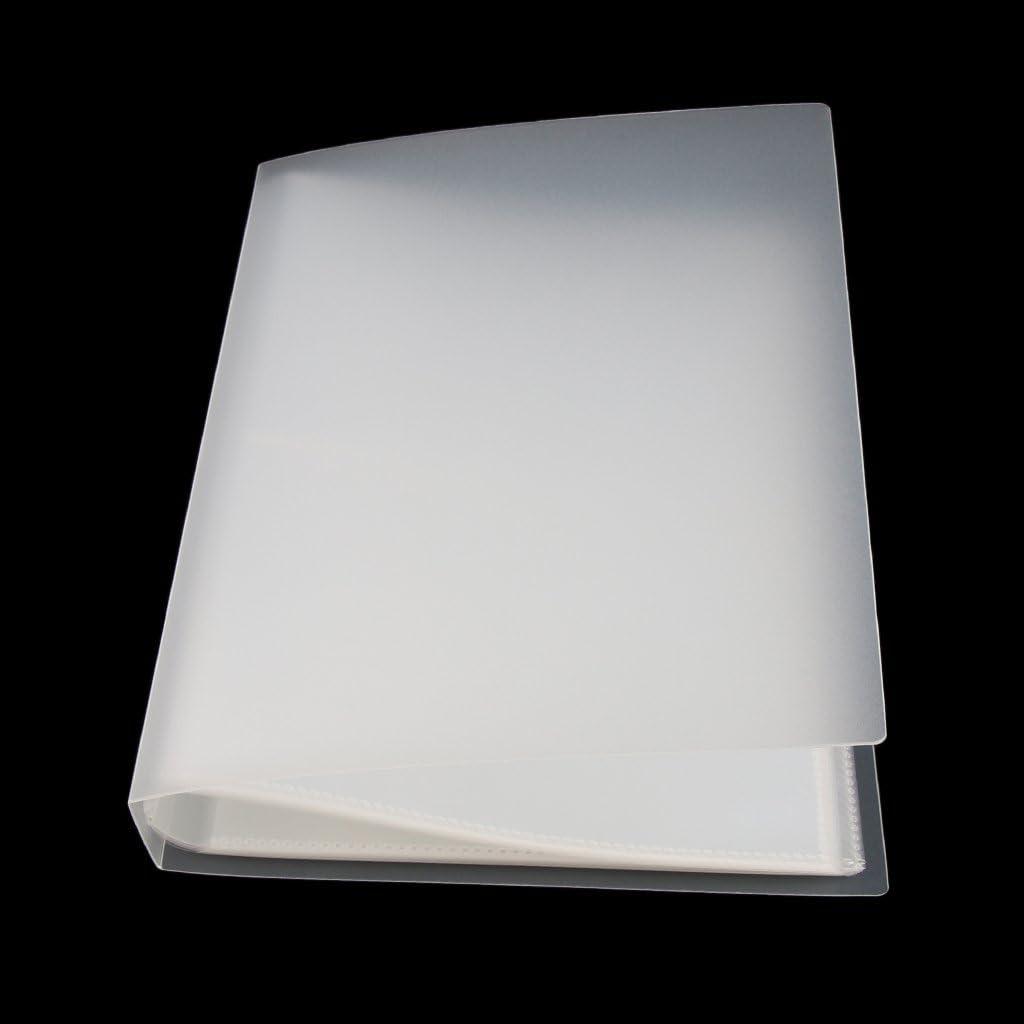 Almencla 80Pocket Family Photo Album 9x5 Memo Book Postcard Storage Sleeve