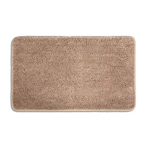 Low Profile Microfiber Mat - Indoor Doormat Super Absorbent Mud and Water Low-Profile Mats Machine Washable Non Slip Rubber Entrance Rug for Front Door Inside Dirt Trapper Mats Shoes Scraper - Tan, 20