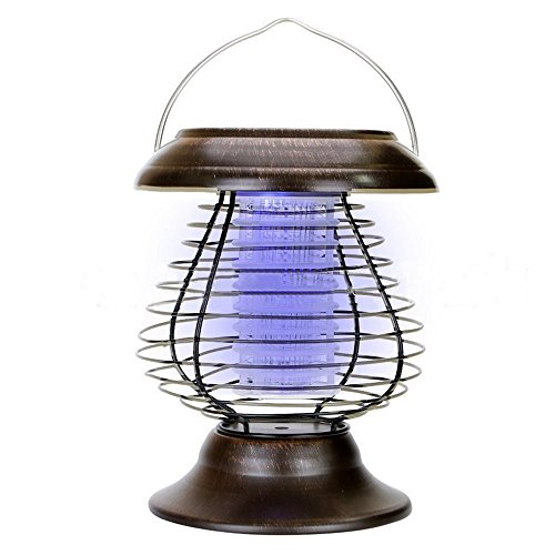 Carpenter Bees Insecticide (Bug Zapper, Hometom Anti-Mosquito Mosquito 0.3W Solar Ultraviolet Insect Bug Insecticide Light (A))