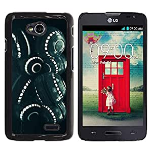 Be Good Phone Accessory // Dura Cáscara cubierta Protectora Caso Carcasa Funda de Protección para LG Optimus L70 / LS620 / D325 / MS323 // Sci-Fi Alien Space Engineering